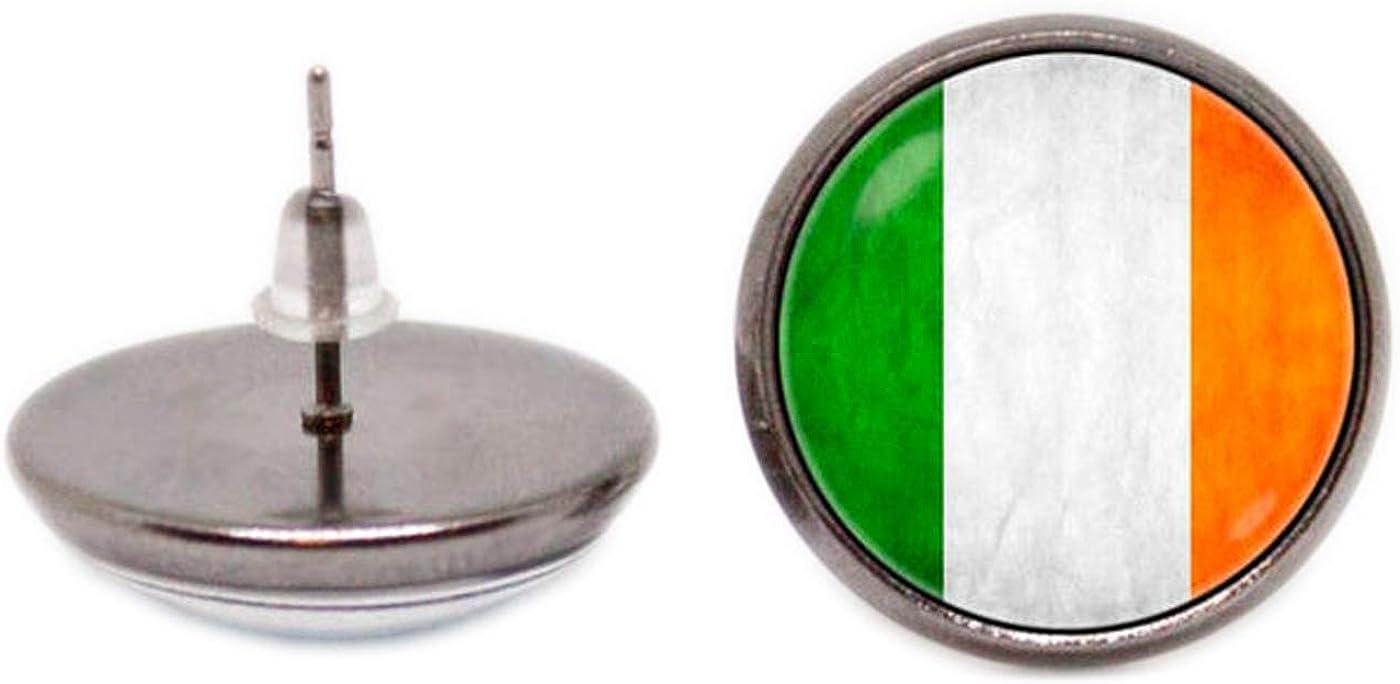 Joyas patriótica bandera de Irlanda patrimonio Stud Pendientes