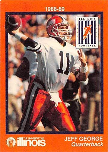 Jeff George Football Card Illinois Fighting Illini 1988