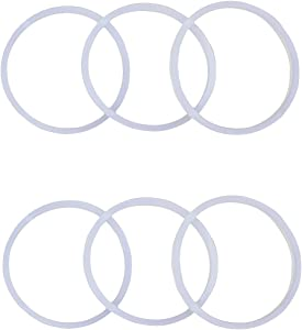 HapWay 6 Pack Silicone Replacement Gaskets Seals Ring Set Compatible with Hydro Flask Kinds Wide Mouth Flip Lid Cap