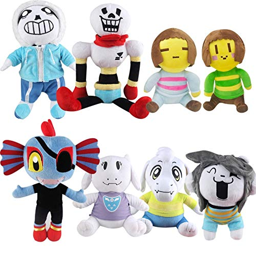 YOYOTOY 8 Styles Undertale Plush Toy Cute Undertale Papyrus Asriel Toriel Plush Dolls Gift for Children Thing You Must Have 7 Year Old Girl Gifts The Favourite Comic Superhero Classroom Unboxing Toys by YOYOTOY