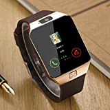 HOK Bluetooth Smart Watch 1.54 Inch Touch Screen Support Sim TF Card With Camera For Android IOS Smart Phone (Gold)