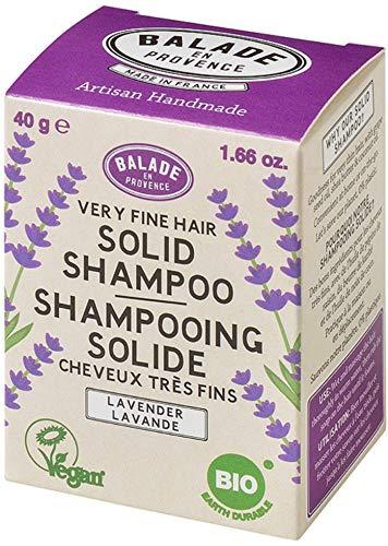 Balade En Provence Women's Handmade Organic Solid Shampoo Bar, Lavender - Eco Friendly, Nourishing, No Sulfates, Vegan Certified, 1.41 oz ()