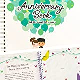 Wedding Anniversary Book - A Hardcover Journal To Document Wedding Anniversaries From The 1st To 50th Year! Unique Couple Gifts For Him & Her - Personalized Marriage Presents For Husband & Wife!