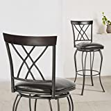 FurnitureR 24'' Circles-Back Swivel Bar stool Counter Height Bar Chair