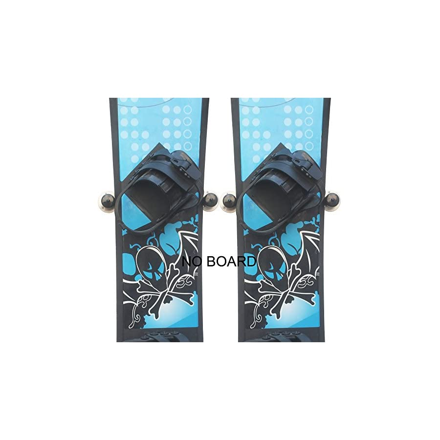 YYST Clinch Design Snowboard Storage Rack Wall Mount (Two pairs) Hold Two Snowboards or two skis