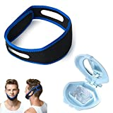 LOVER FIRE Combo Twin Pack Adjustable Stop Snoring Chin Strap w/ Extra Silica gel Nose Clip Vents …