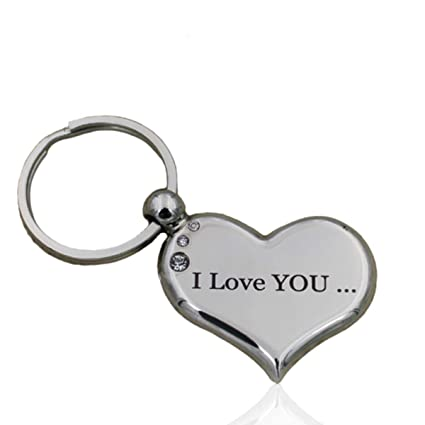 Amazon Com Heart Keychain I Love You To The Moon And Back Best