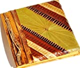Handmade Art Writing Diary Journal with Natural Material in Diagonal Stripe Design