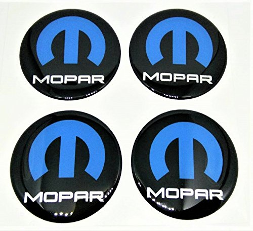 4x GLOSS RAISED 50 mm GEL 3D MOPAR DOMED RESIN BADGE DECAL EMBLEM BLUE BLACK CHROME SILVER Jeep Ram Dodge RC005 WHEEL HUB CENTER TRUNK CAP