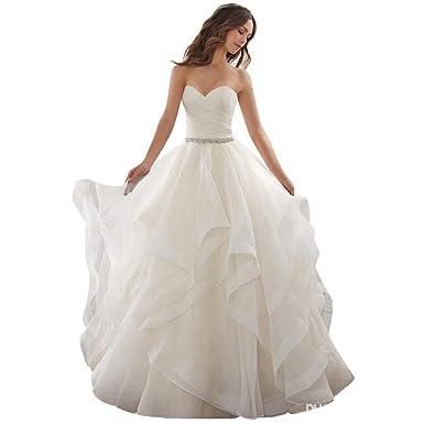Cloverbridal Elegant Hochzeitskleider Schatz Schnüren Prinzessin ...