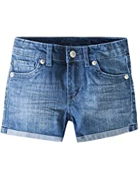 Girls' Denim Shorty Shorts