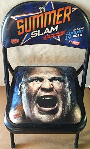wwe-25th-summer-slam-ringside-chair-2012-brock-lesner-ufc-staples-center-rare