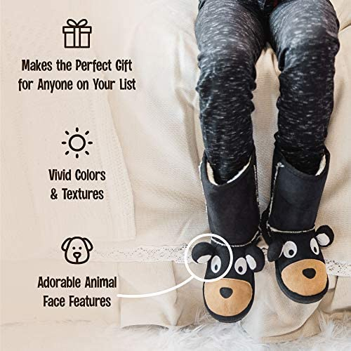 Lazy One Animal Slipper Boots For Kids, Cozy Children's Slippers