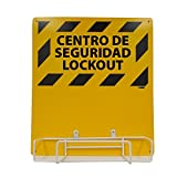 NMC LORK2BI Bilingual Electrical Lockout, Backboard and Rack, 16'' Length x 14'' Height