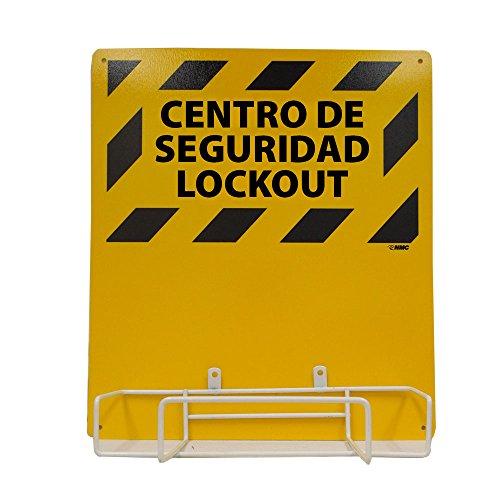 [해외]NMC LORK2BI 이중 언어 전기 잠금, 배킹 보드 및 랙, 길이 16 x 높이 14/NMC LORK2BI Bilingual Electrical Lockout, Backboard and Rack, 16  Length x 14  Height
