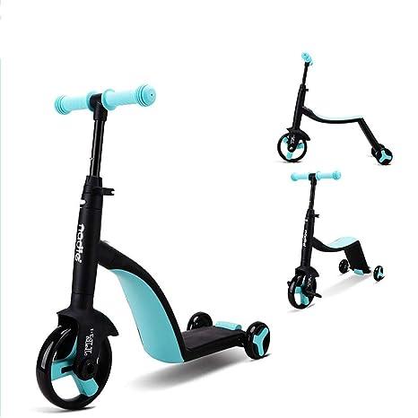 Amazon.com: Patinete de 3 ruedas 3 en 1 para niños, con ...