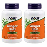 Cheap Ginger Root 550mg 100 Capsules (Pack of 2)