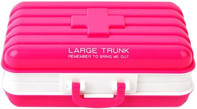 loweryeah Multicolor PP caja de viaje medicina caja carrito salud caja al por menor Caja libre de polvo caja de almacenaje: Amazon.es: Hogar