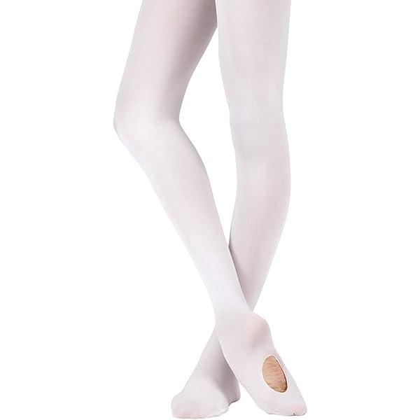 Bezioner Medias de Ballet y Danza Para Niños y Adultos Convertible 1 Par Blanco S: Amazon.es: Deportes y aire libre