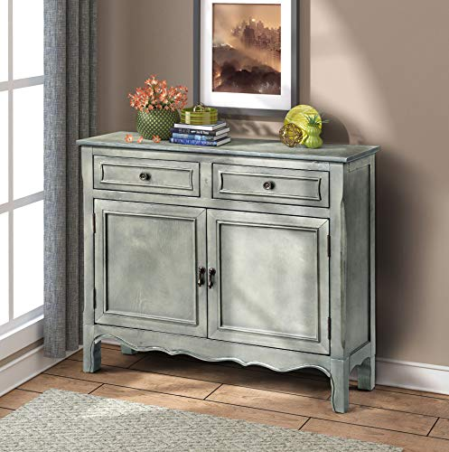 FLIEKS Harper&Bright Designs Wood Accent Cabinet with Drawers and Doors Vintage Accent Storage Chest for Entryway, Living Room (Antique Grey)