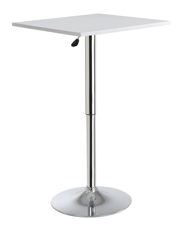 Home4You Stehtisch Bistrotisch Bistrotisch Bistrotisch Beistelltisch Torsten 1   Weiß   Metall   höhenverstellbar   60x60 cc355c