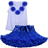 Kids Girls T shirt & Pettiskirt Petticoat Dance Tutu Dress Outfits Set
