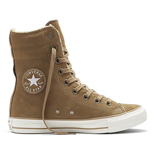 - CONVERSE Chuck Taylor All Star Hi Rise Sand/Egret Suede Sneakers 553421C Women Boot Shoes (9 men/ 11 women)