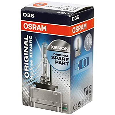 Genuine Osram 66340HBI Xenarc 35W D3S PK32D-5 4600K HID Xenon Light Bulb (1 Pack): Automotive