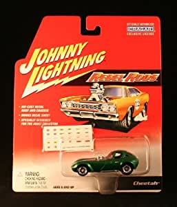 CHEETAH * GREEN * Johnny Lightning 2002 REBEL RODS COLLECTION 1:64 Scale Die Cast Vehicle