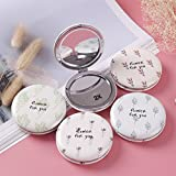 pinjewelr Women's Accessories Mini Round Plant Pattern Small Glass Mirrors Circles for Crafts Decoration Cosmetic Accessory