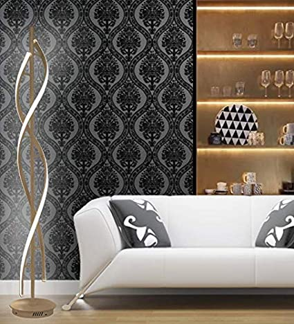 QQMLGX Dimmable Lampadaire LED Lampe /à Spirale 30W Adjustble Light Moderne Style de Conception cr/éative Parfait pour la Lampe de Salon//d/écoration,White