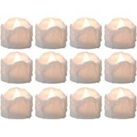 Tealight Candles Battery Operated with Timer (6Hrs ON 18Hrs Off Cycle), 12pcs Timing LED Flickering Flameless Tea Light…