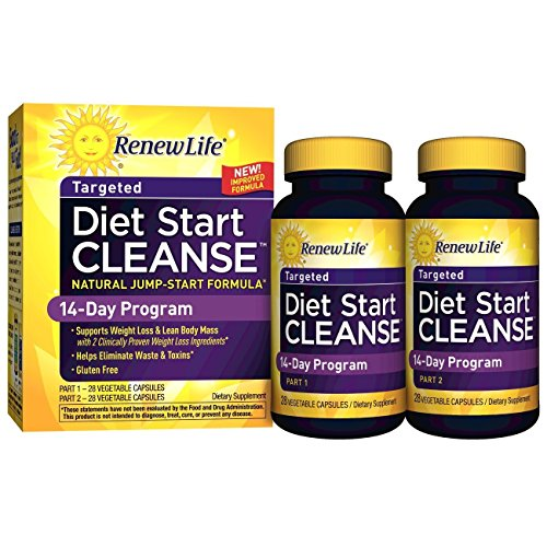 Renew Life – Diet Start Cleanse – eliminate toxins and diet cleanse – 56 vegetable capsules – 14 day program