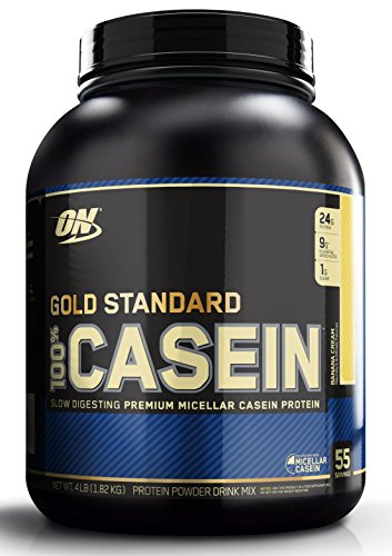 Optimum Nutrition Gold Standard Casein Protein Powder with Glutamine and Amino Acids. Protein Shake by ON - Banana Cream, 73 Servings, 1.82kg