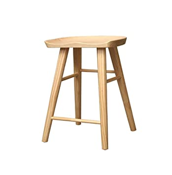 Home Bar Furniture Wooden Barstool Breakfast Dining Stool For
