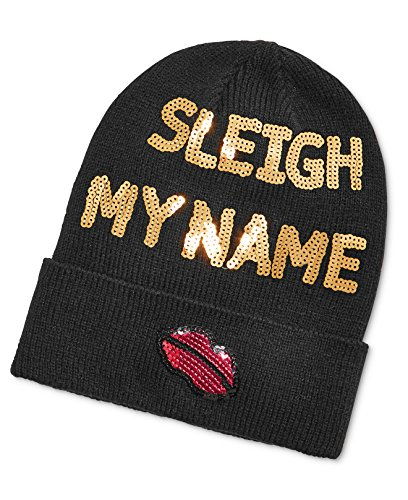 Celebrate Shop 'Sleigh My Name' Sequined Holiday Beanie, Black