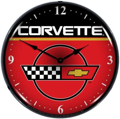 Collectable Sign and Clock GM805184 14 C4 Corvette Lighted Clock