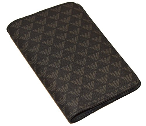 Emporio Armani Y4R154 YKS4V Eagle Logo Passport Holder by Emporio Armani