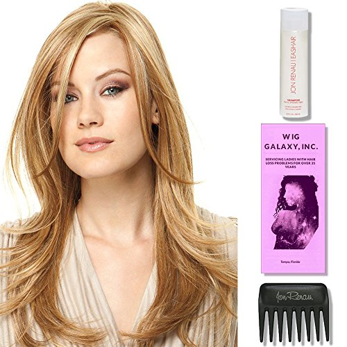 Scene Stealer by Raquel Welch Wigs, Wig Galaxy Hairloss Booklet, 2oz Travel Size Wig Shampoo, & Wide Tooth Comb (Bundle - 4 Items), Color Chosen: RL 16/88 by Raquel Welch Wigs
