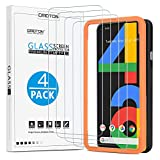 [4 Pack] OMOTON Screen Protector for Google Pixel 4a, Scratch Resistant/Easy-Install/Bubble Free/Tempered Glass Screen Protector Compatible with Google Pixel 4a