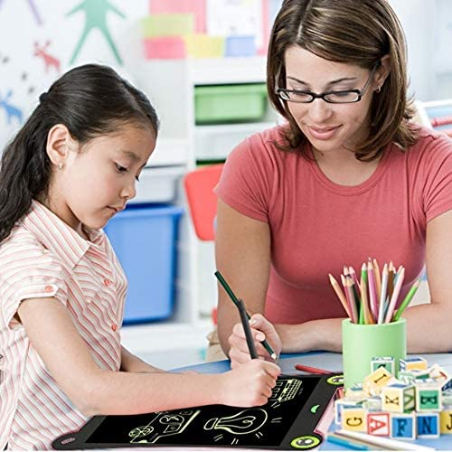 Dmxiezib WordPad Handbemalte Tafel Lernspielzeug für Kinder 8,5-Zoll-LCD-Handschriftstift Feiner Stift LCD-Schreibtablett Kinder schreiben und zeichnen elektronische Schreibtafel für anstelle von Papi