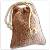 """New Burlap Favor Gift Bags With Drawstring 3 x 5 – Pack Of 10 Bags Small ($0.72 each)"""", Health Care Stuffs"""