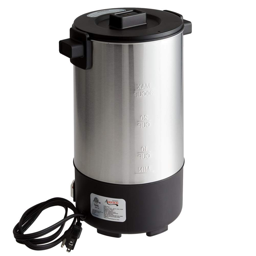 TopCoffee Serve CU30ETL 30 Cup (1.3 Gallon, 32 cup) Stainless Steel Coffee Urn
