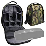 DURAGADGET Camouflage Backpack with Customizable Interior & Raincover for NEW Anker A3143 Stereo Wireless Bluetooth 4.0 Speaker/Anker Classic Portable Wireless Bluetooth Speaker AK-99ANSP9901-BSA