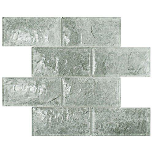 SomerTile WITICSAS Igluit Convex Subway Glass Mosaic Wall Tile, 11.625