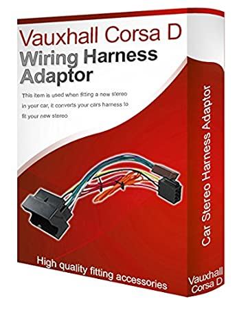 vauxhall corsa d cd radio stereo wiring harness adapter: amazon co uk:  electronics