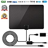 analog microwave oven - HDTV Antenna 2018 Newest Version Ultra-Thin Amplified Digital TV Aerial Antenna High-Definition for Indoor with 16.5FT Coaxial Cable for Digital Freeview and Analog TV Signals