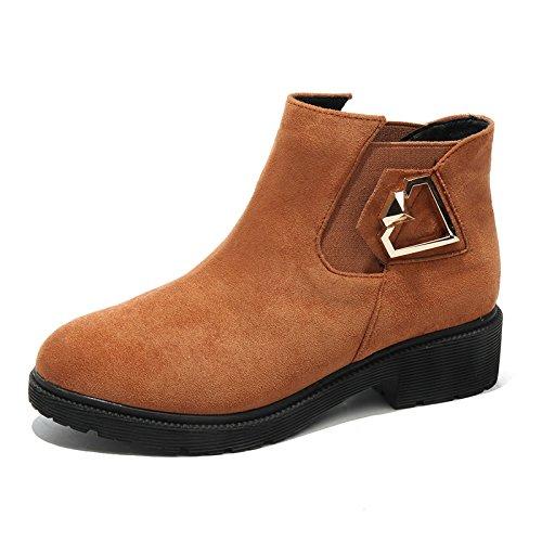 Chaussures Enfants Daim De Les D'Hiver Gros En Bottes brown Des Feuillet Avec Bottes Et Femmes Martin De Chaussures Velvet Étanches Femmes KHSKX 4KZFpqq