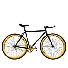 Zycle Fix ZF-BKGO-48 BLACK GOLD Fixed Gear Bike, 48cm/One Size Frame