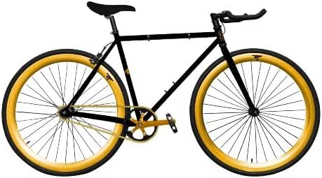 Zycle Fix ZF-BKGO-59 BLACK GOLD Fixed Gear Bike, 59cm/One Size Frame